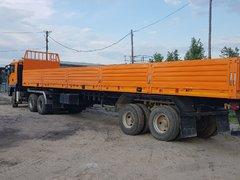 MAN TGS 33.430 и НовосибАРЗ 16 тонные оси BPW, фитинги, конники, рымпетли, лебёдки. Грузоподъемность 49 тонн.